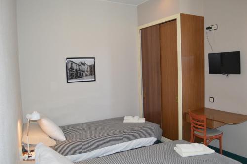 Cama o camas de una habitación en Fonda Ca La Paula