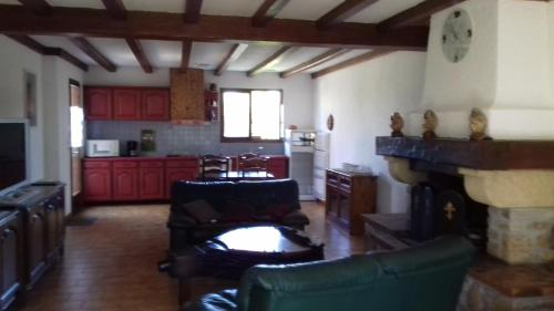 A kitchen or kitchenette at Holiday home Les salines