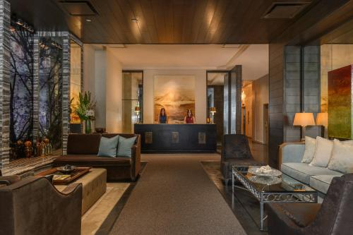 The lobby or reception area at Loden Vancouver