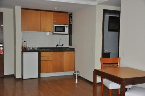 A kitchen or kitchenette at Blue Tree Towers Saint Michel