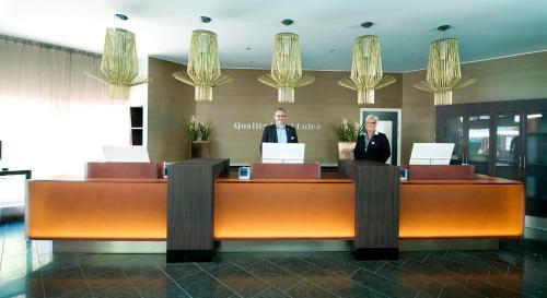 Lobbyn eller receptionsområdet på Quality Hotel Luleå