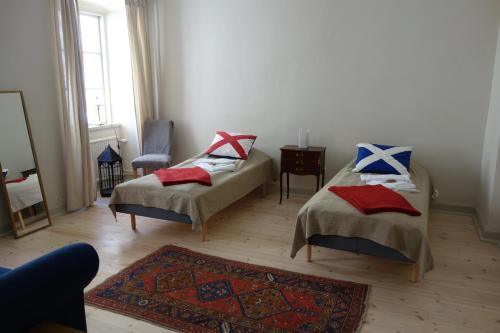 Säng eller sängar i ett rum på Soldatens Bed & Breakfast