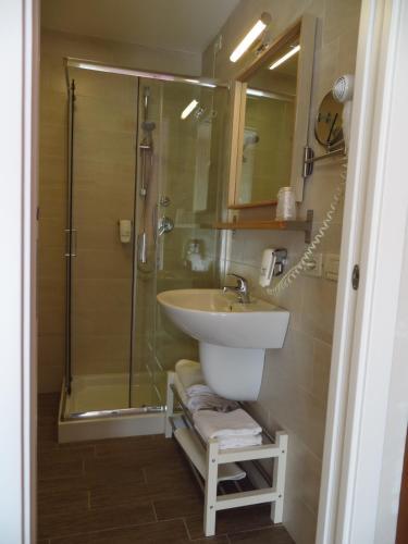 Koupelna v ubytování Hotel Nederland