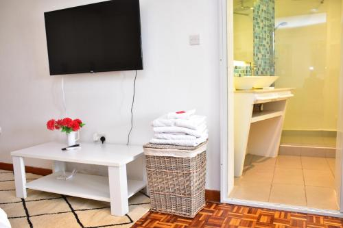 A television and/or entertainment center at Maison Mitwaba