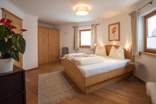 Postel nebo postele na pokoji v ubytování Landhaus Trinker
