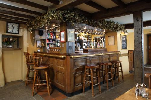 The lounge or bar area at Eight Bells Inn