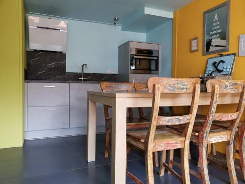 Cuisine ou kitchenette dans l'établissement Domburg4you