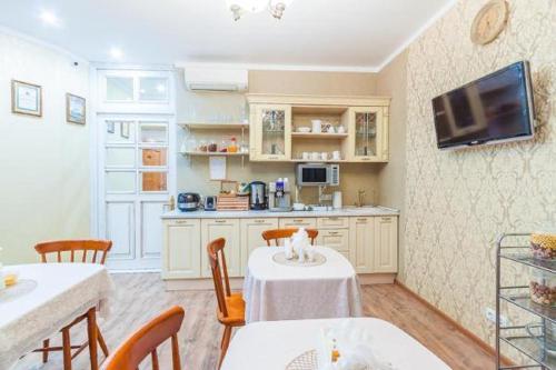 Кухня или мини-кухня в Hotel Alliance