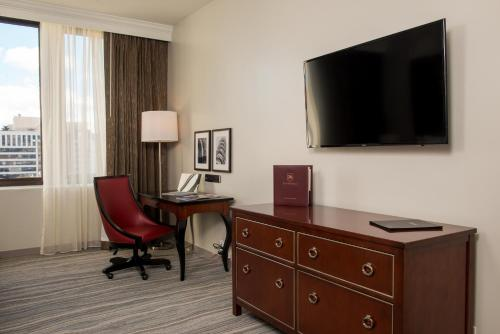 A television and/or entertainment center at Club Donatello