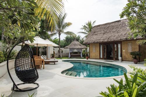The swimming pool at or near Pondok Santi Estate