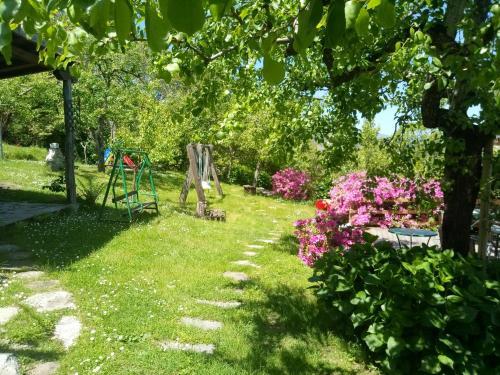 A garden outside Archontiko Iatridis