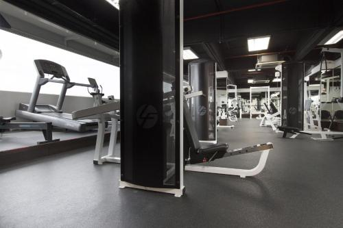 The fitness center and/or fitness facilities at Le Meridien Kota Kinabalu