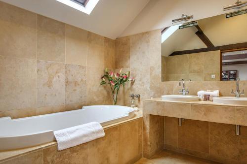 A bathroom at Byfords