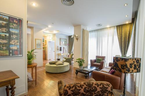 Coin salon dans l'établissement Hotel Torino