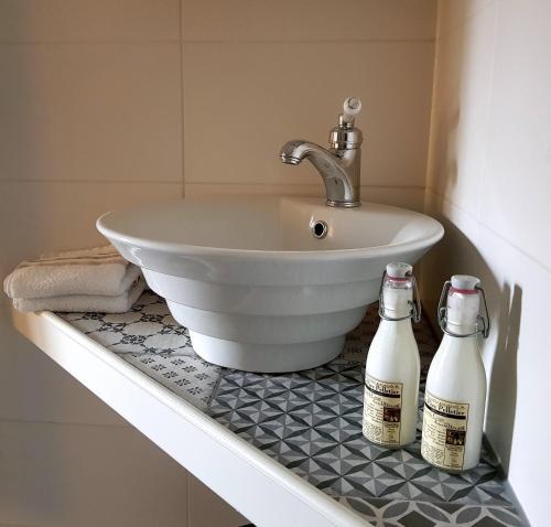 A bathroom at Atelier B&B 'Sinnestriel'