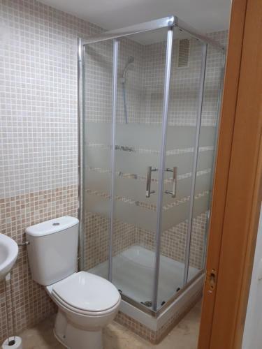 A bathroom at piso turístico