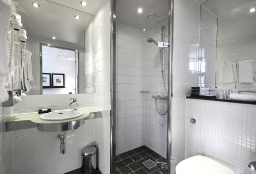 A bathroom at The Square