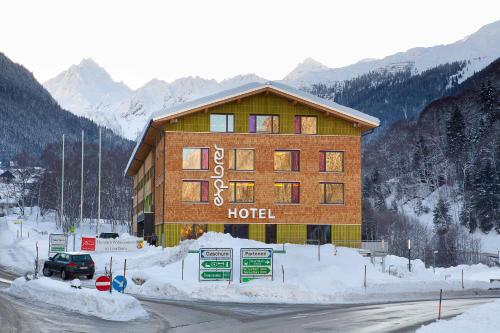 Explorer Hotel Montafon during the winter
