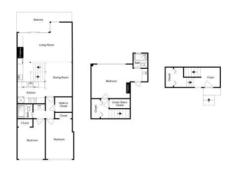 The floor plan of 7021SH89 - Peaceful West Shore Condo