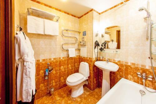 Ванная комната в Гостиница Электрон