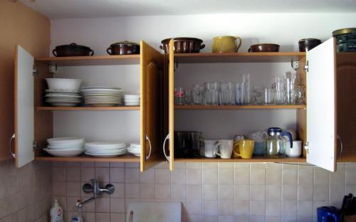 Кухня или мини-кухня в Ubytovaní Blanka