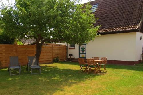 Ein Garten an der Unterkunft Ferienhaus Prerow