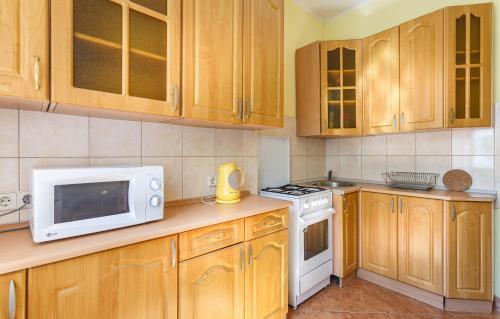 A kitchen or kitchenette at 24 Khamovnicheskiy Val Ulitsa