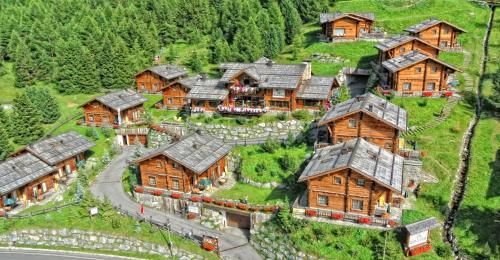 Vista aerea di Park Chalet Village