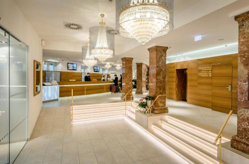 The lobby or reception area at IMLAUER HOTEL PITTER Salzburg