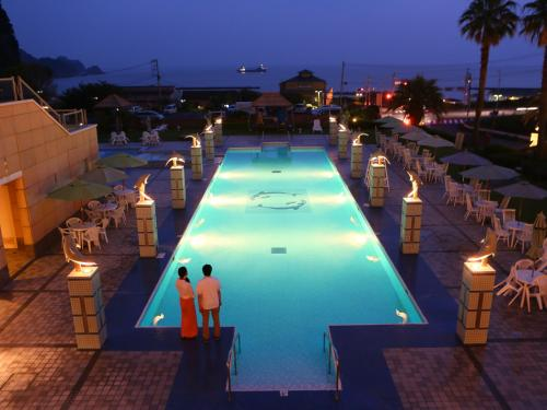 A view of the pool at Nishiizu Crystal View Hotel or nearby