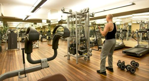 The fitness center and/or fitness facilities at Grand Hotel Dino