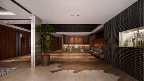 The lobby or reception area at Nest Hotel Hiroshima Hatchobori