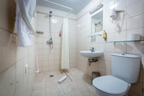 Kúpeľňa v ubytovaní Aribe