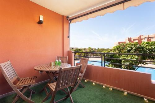 A balcony or terrace at Playa Tejita III NomaHolidays by Bossh! Apartments