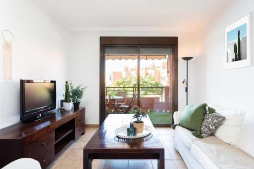 A seating area at Playa Tejita III NomaHolidays by Bossh! Apartments
