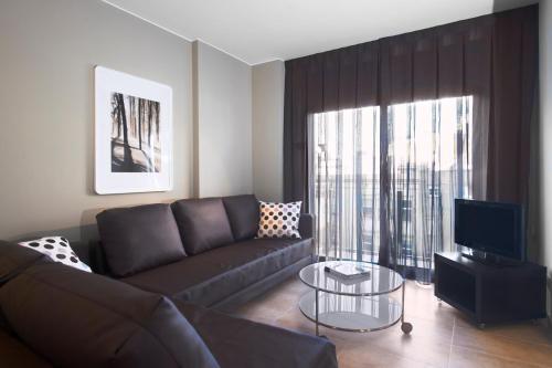 Area soggiorno di Barcelona Apartment Gran de Gràcia
