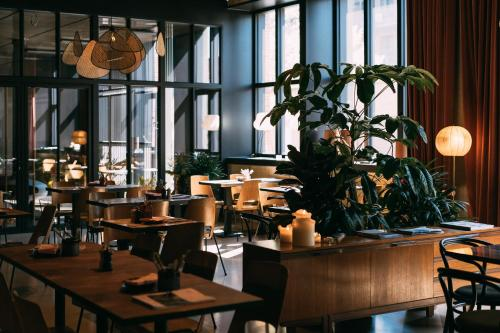A restaurant or other place to eat at YUST Antwerp