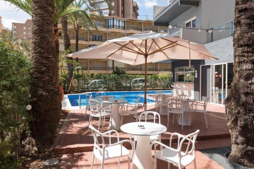 The swimming pool at or near Hotel El Palmeral