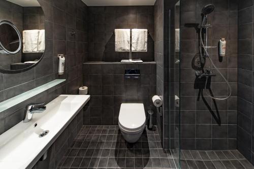 A bathroom at ibis Tallinn Center