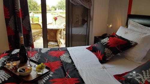 A bed or beds in a room at Naiades Villas