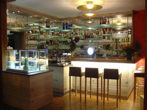 The lounge or bar area at Rosengarten