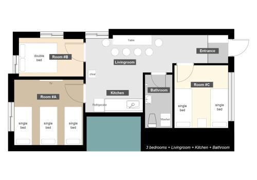 The floor plan of Lee Jae