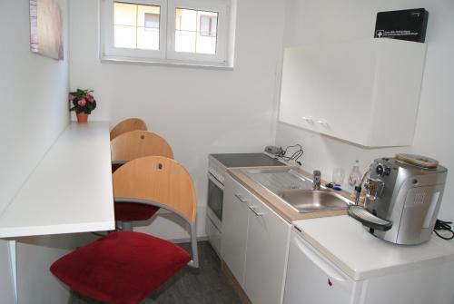 Küche/Küchenzeile in der Unterkunft Privatzimmer Mitterbacher