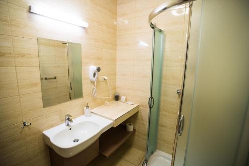 Łazienka w obiekcie Pensjonat Myka