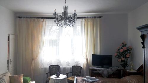 TV a/nebo společenská místnost v ubytování Hotel Garni