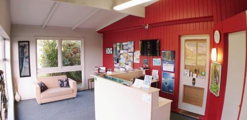 The lobby or reception area at Glacier View Motel - Franz Josef