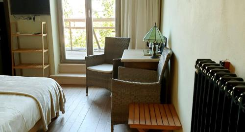 A seating area at Bed & Breakfast Exterlaer