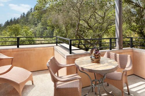 A balcony or terrace at Auberge du Soleil, An Auberge Resort