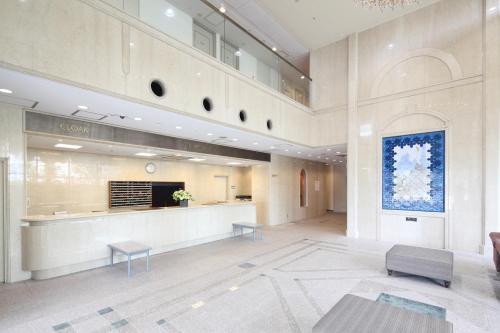 The lobby or reception area at Nagoya Kasadera Hotel