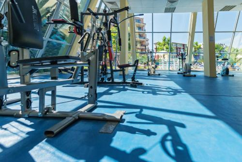 Das Fitnesscenter und/oder die Fitnesseinrichtungen in der Unterkunft Ivana Palace Hotel